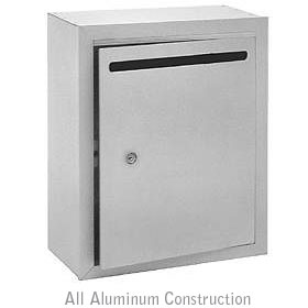 Salsbury industries 2240AU Letter Box-Standard-Surface Mounted-Aluminum Finish-USPS Access