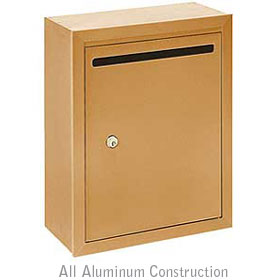 Salsbury industries 2240BP Letter Box-Standard-Surface Mounted-Brass Finish-Private Access-with (2) Keys