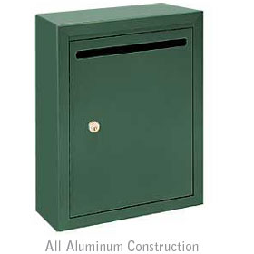 Salsbury industries 2240GP Letter Box-Standard-Surface Mounted-Green-Private Access-with (2) Keys