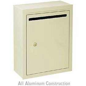 Salsbury industries 2240VP Letter Box-Standard-Surface Mounted-Ivory-Private Access-with (2) Keys