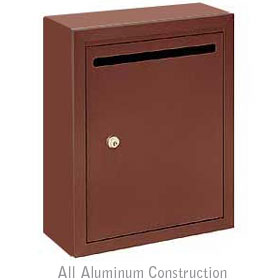 Salsbury industries 2240ZP Letter Box-Standard-Surface Mounted-Bronze Finish-Private Access-with (2) Keys
