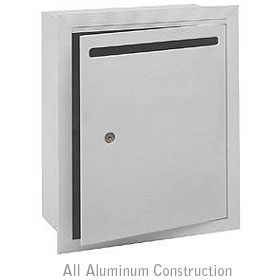 Salsbury industries 2245AP Letter Box-Standard-Recessed Mounted-Aluminum Finish-Private Access-with (2) Keys