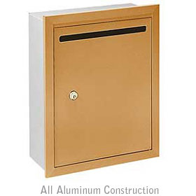Salsbury industries 2245BP Letter Box-Standard-Recessed Mounted-Brass Finish-Private Access-with (2) Keys