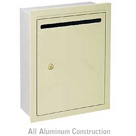 Salsbury industries 2245VP Letter Box-Standard-Recessed Mounted-Ivory-Private Access-with (2) Keys