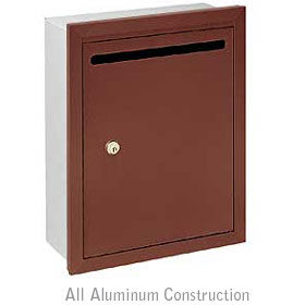 Salsbury industries 2245ZP Letter Box-Standard-Recessed Mounted-Bronze Finish-Private Access-with (2) Keys