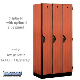 Salsbury industries 31368CHE 31368 Single Tier Designer Locker-3 Wide-6 Feet High-18 inches Deep-Cherry