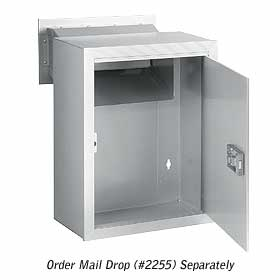 Salsbury industries 2256ALM Receptacle-Option For Mail Drop-Aluminum Finish