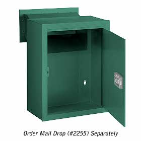 Salsbury industries 2256G Receptacle-Option For Mail Drop-Green