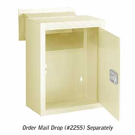 Salsbury industries 2256V Receptacle-Option For Mail Drop-Ivory