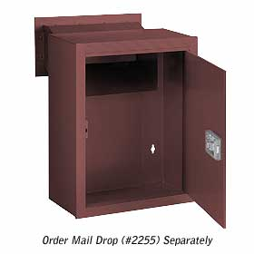 Salsbury industries 2256Z Receptacle-Option For Mail Drop-Bronze Finish