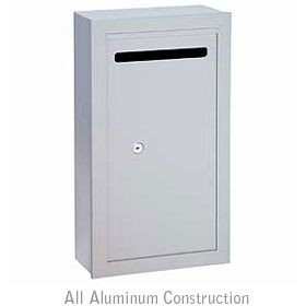 Salsbury industries 2260AP Letter Box-Slim-Surface Mounted-Aluminum Finish-Private Access-with (2) Keys