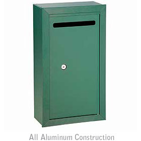 Salsbury industries 2260GP Letter Box-Slim-Surface Mounted-Green-Private Access-with (2) Keys