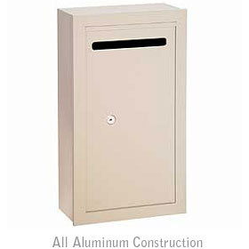 Salsbury industries 2260VP Letter Box-Slim-Surface Mounted-Ivory-Private Access-with (2) Keys