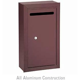 Salsbury industries 2260ZP Letter Box-Slim-Surface Mounted-Bronze Finish-Private Access-with (2) Keys