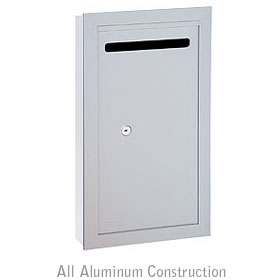 Salsbury industries 2265AP Letter Box-Slim-Recessed Mounted-Aluminum Finish-Private Access-with (2) Keys