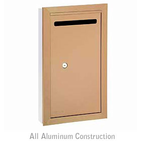 Salsbury industries 2265BP Letter Box-Slim-Recessed Mounted-Brass Finish-Private Access-with (2) Keys