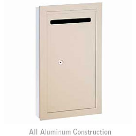 Salsbury industries 2265VP Letter Box-Slim-Recessed Mounted-Ivory-Private Access-with (2) Keys