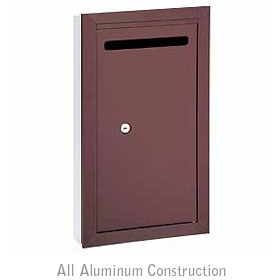 Salsbury industries 2265ZP Letter Box-Slim-Recessed Mounted-Bronze Finish-Private Access-with (2) Keys
