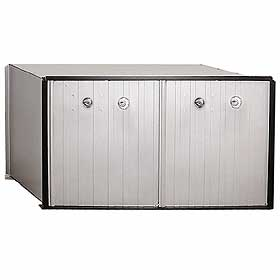 Salsbury industries 2272P 2 Door Aluminum Parcel Locker-Private Access