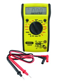 General Tools DMM40 Manual Ranging Digital Multimeter w/ Backlight