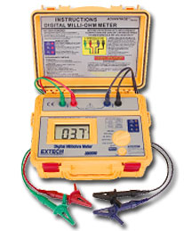 Extech 380580-NIST Battery Powered Milliohm Meter - NIST Cerified