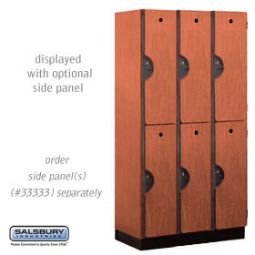 Salsbury industries 32368CHE 32368 Double Tier Designer Locker-3 Wide-6 Feet High-18 inches Deep-Cherry