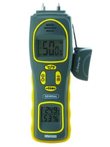General Tools MMH800 4-IN-1 Pin/Pad RH Moisture Meter