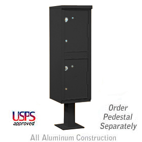 Salsbury industries 3302B Outdoor Parcel Locker-Black-2 Compartments