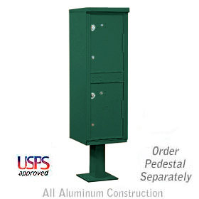Salsbury industries 3302GN Outdoor Parcel Locker-Green-2 Compartments