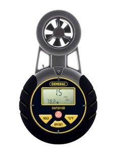 General Tools DAF3010B Airflow Seeker Digital Airflow Meter