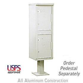 Salsbury industries 3302G Outdoor Parcel Locker-2 Compartments-USPS Access