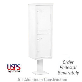 Salsbury industries 3302W Outdoor Parcel Locker-White-2 Compartments