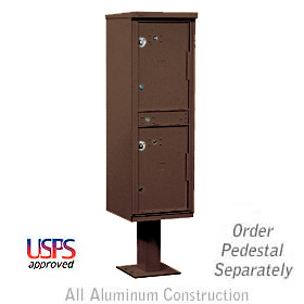 Salsbury industries 3302Z Outdoor Parcel Locker-Bronze-2 Compartments