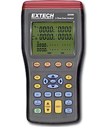 Extech 382091 1000A 3-Phase Power Analyzer/Datalogger
