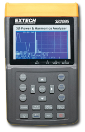 Extech 382095 1000A 3-Phase Power & Harmonics Analyzer