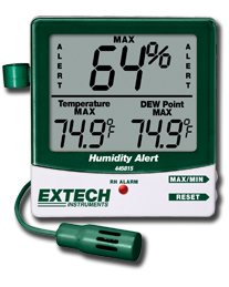 Extech 445815 Hygro-Thermometer with Dew Point and Mold Alert (NIST Certified - allow 3 weeks for testing)