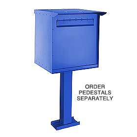 Salsbury 4276B Pedestal Drop Box-Large-Blue