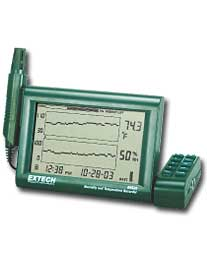 Extech RH520A-220 Humidity+Temperature Chart Recorder with Detachable Probe (220V)