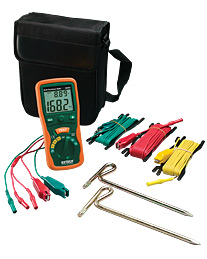 Extech 382252-NIST Earth Ground Resistance Tester Kit (NIST Certified)