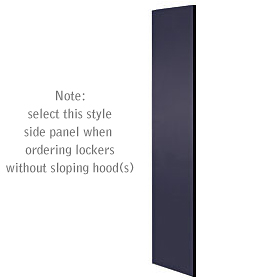 Salsbury industries 33333BLK Side Panel-For Designer Locker without Sloping Hood-Black