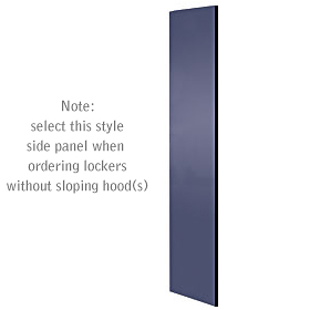Salsbury industries 33333BLU Side Panel-For Designer Locker without Sloping Hood-Blue