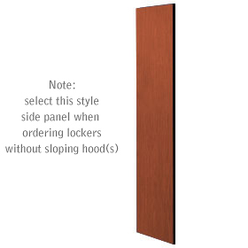 Salsbury industries 33333CHE Side Panel-For Designer Locker without Sloping Hood-Cherry