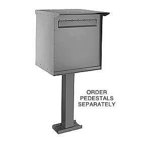 Salsbury 4276G Pedestal Drop Box-Large-Gray