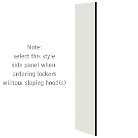 Salsbury industries 33333GRY Side Panel-For Designer Locker without Sloping Hood-Gray