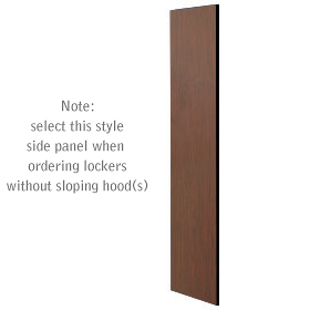 Salsbury industries 33333MAH Side Panel-For Designer Locker without Sloping Hood-Mahogany