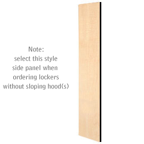 Salsbury industries 33333MAP Side Panel-For Designer Locker without Sloping Hood-Maple