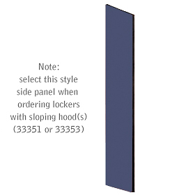 Salsbury industries 33334BLU Side Panel-For Designer Locker with Sloping Hood-Blue