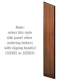 Salsbury industries 33334MAH Side Panel-For Designer Locker with Sloping Hood-Mahogany