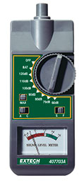Extech 407703A-NIST Analog Sound Level Meter (NIST Certified)