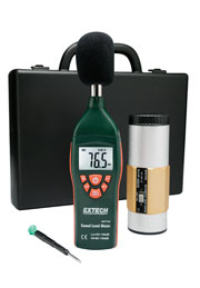 Extech 407732-KIT Low/High Range Sound Level Meter Kit w/ FREE UPS